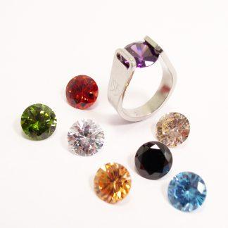 ISIS Jewels Gem Game ring met 8 kleurstenen-0