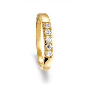 Marbeau Alliance ring van goud met diamant-0