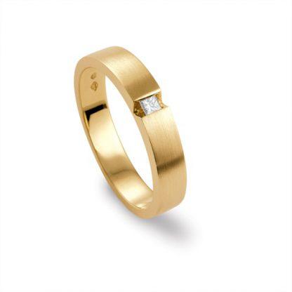 Ring van goud met diamant-0