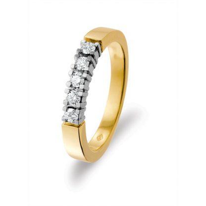 Marbeau Alliance ring van goud met diamant-0