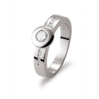 Marbeau ring van goud met diamant-0