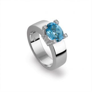 Marbeau ring van goud met kleursteen-0