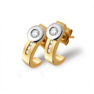 Marbeau oorbellen van goud met diamant-0