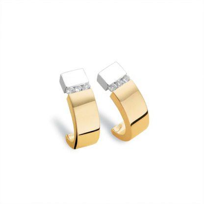 Oorbellen van goud met diamant-0