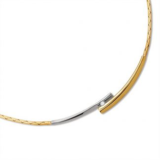 Collier van goud met diamant-0