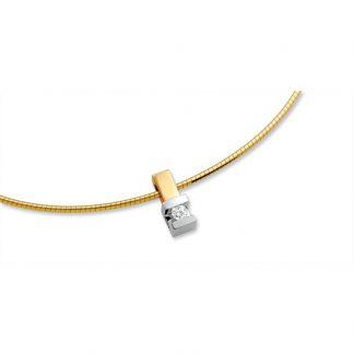 Marbeau hanger van goud met diamant-0
