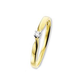 ISIS Jewels Solitairring van goud met diamant-0