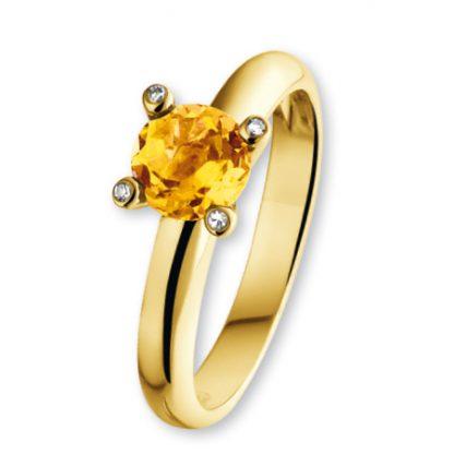 ISIS Jewels Aanschuifring van goud met citrien edelsteen-0