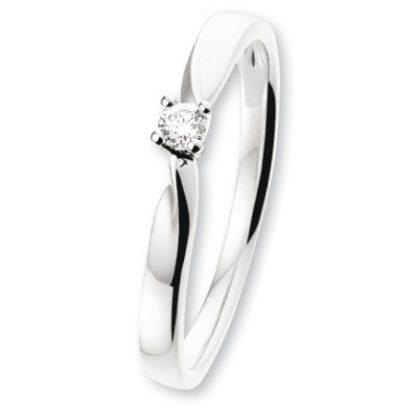 ISIS Jewels Aanschuifring van witgoud met diamant 0.06 karaat-0