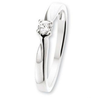 ISIS Jewels Aanschuifring van witgoud met diamant 0.08 karaat-0