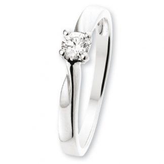 ISIS Jewels Aanschuifring van witgoud met diamant 0.12 karaat-0