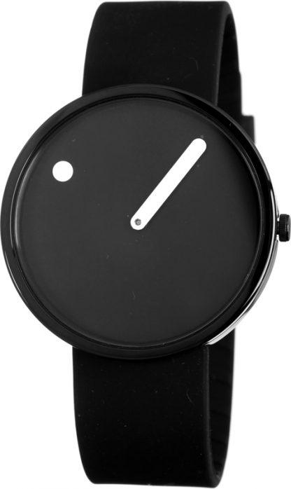 PICTO horloge zwart-zwart-0