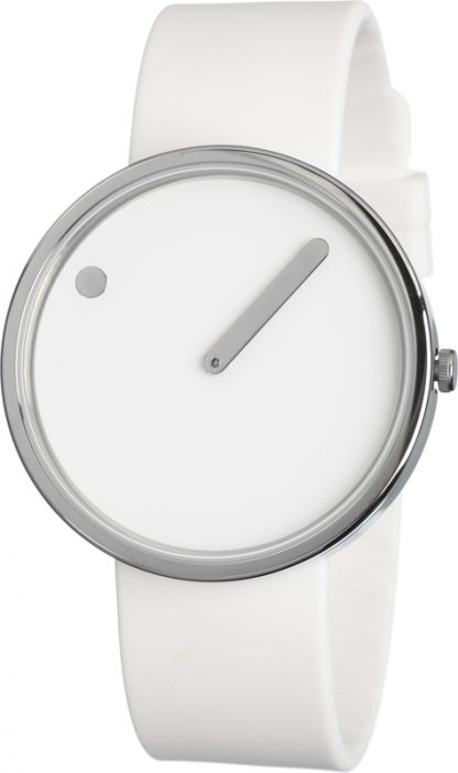 Picto watch zilver-wit