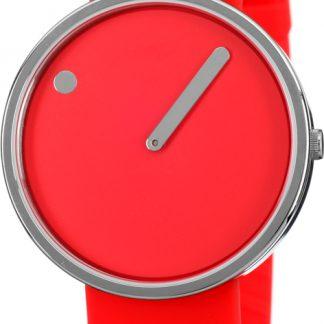 PICTO horloge zilver-rood-0