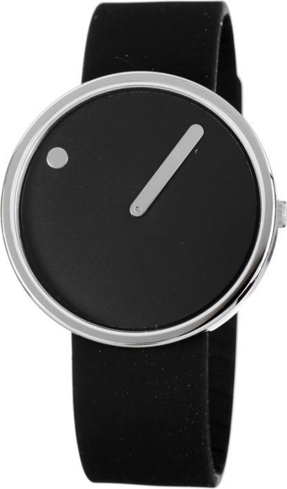 PICTO horloge zilver-zwart-0