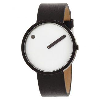 PICTO horloge zwart-zwart-wit-0