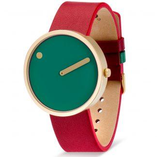PICTO horloge goud-rood-groen-0
