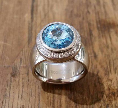 Mooddots ring: SILVER/STONES/BLUE-0