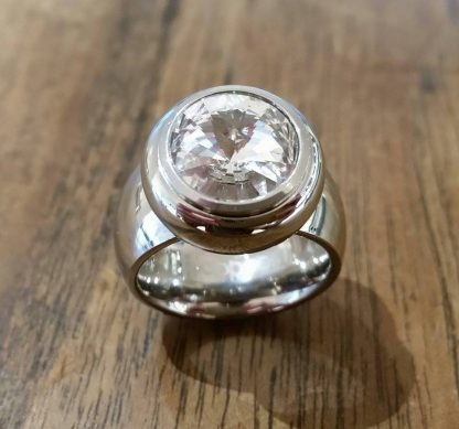 Mooddots ring: SILVER/WHITE-0