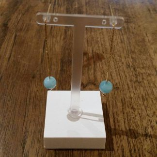 Eardrops ice Blauw Jade goud-0