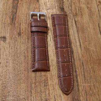 Horlogeband leather Croco chestnut-0