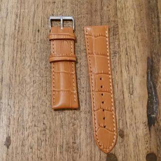 Horlogeband leather Croco honey-0