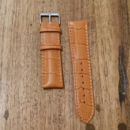 Horlogeband leather Croco honey-0