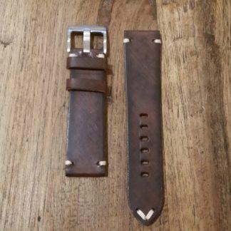 Horlogeband leather Vintage 1 wallnut-0