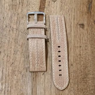 Horlogeband leather Vintage 3 beige-0