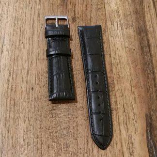 Horlogeband leather Croco black-0