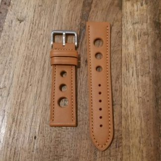 Horlogeband leather Rally honey-0