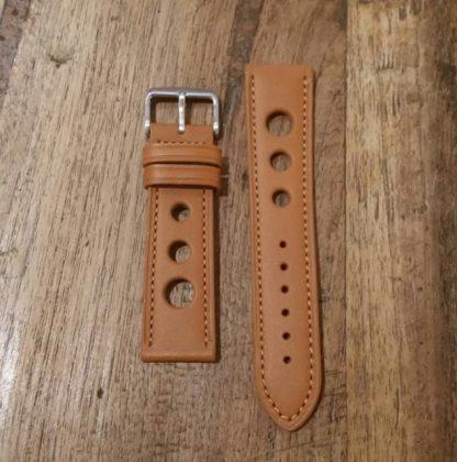Horlogeband leather Rally honey-0