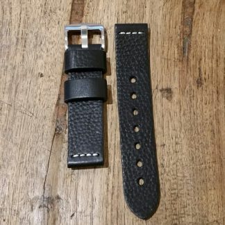 Horlogeband leather Vintage 2 Black-0