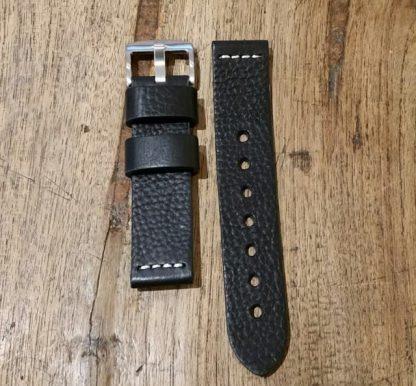 Horlogeband leather Vintage 2 Black-0