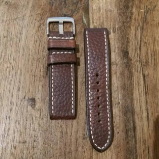 Horlogeband leather Vintage 4 chestnut-0