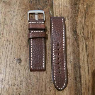 Horlogeband leather Vintage 4 chestnut-0
