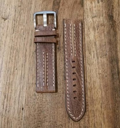 Horlogeband leather Vintage 3 wallnut-0