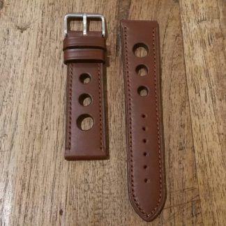 Horlogeband leather Rally chestnut-0