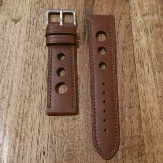 Horlogeband leather Rally chestnut-0