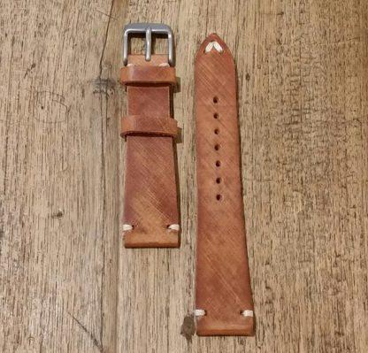 Horlogeband leather Vintage 1 bruin-0