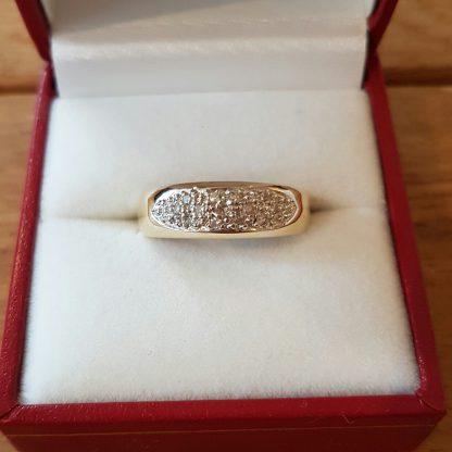Occasion Bicolor ring goud-22742
