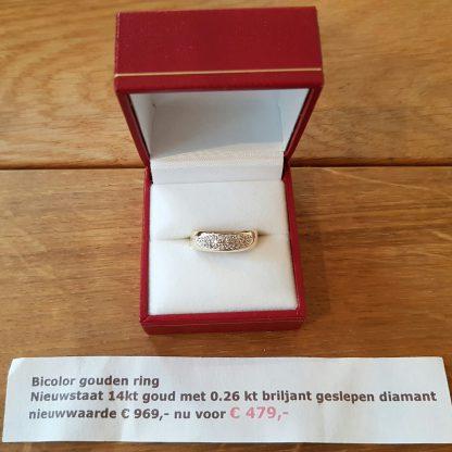 Occasion Bicolor ring goud-0