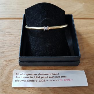 Occasion slavenarmband goud-0