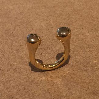 MARCOBREUR double drop ring geelgoud -0