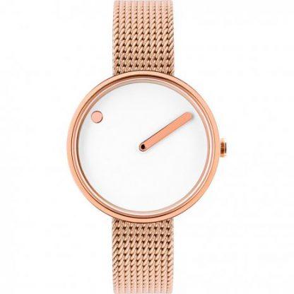 PICTO horloge rose-wit-0