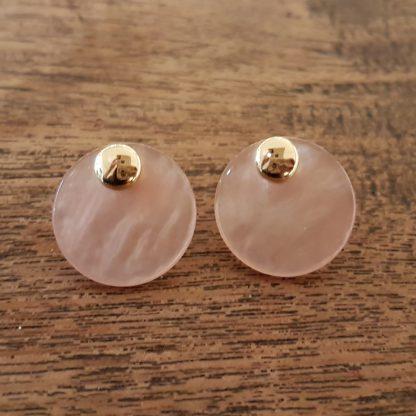Eardrops oud roze - goud-0