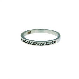 Alliance ring wit goud met diamant-0
