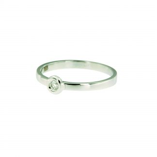 Ring van wit goud met diamant-0