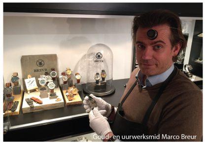 BREVR horloge Mayet comtoise gold black-23503