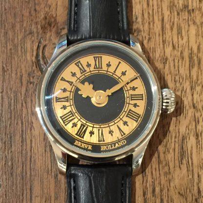 BREVR horloge Mayet comtoise gold black-0